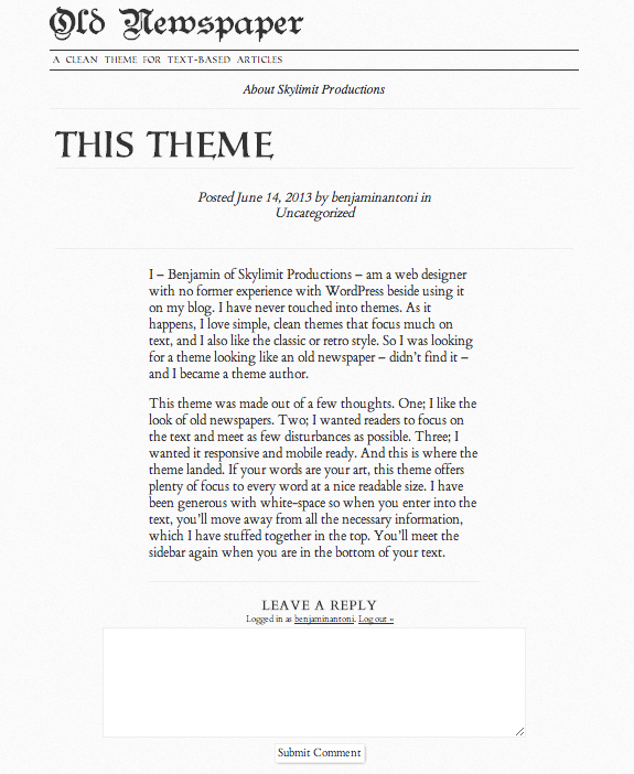 Single Page View