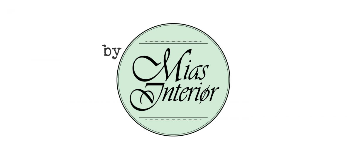 "The old Mias Interiør logo with a tiny ""by"" added."