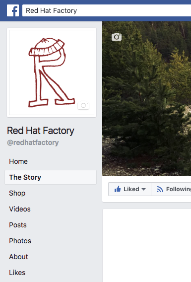 Custom Facebook Page Tab shown in the menu.