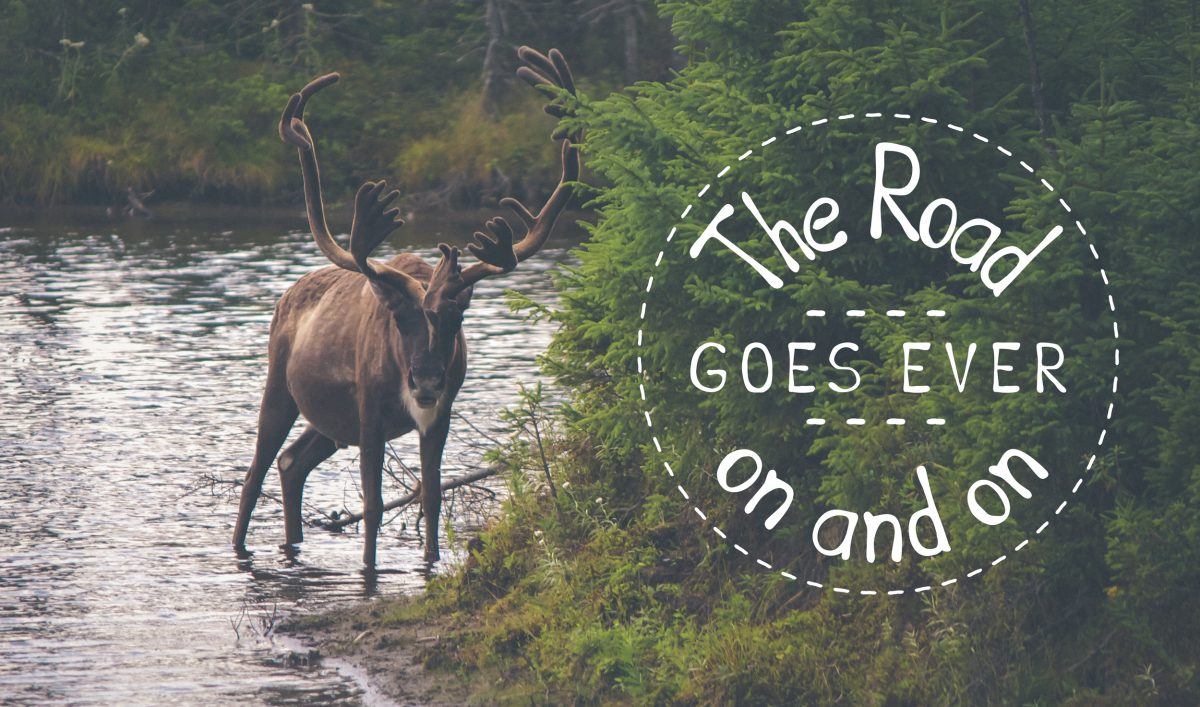 A J.R.R. Tolkien song written with the Ink & Blotts font.