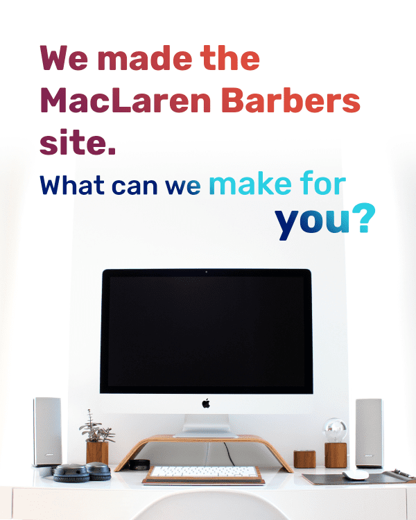 """The """"We Made MacLaren Barbers"""" campaign."""