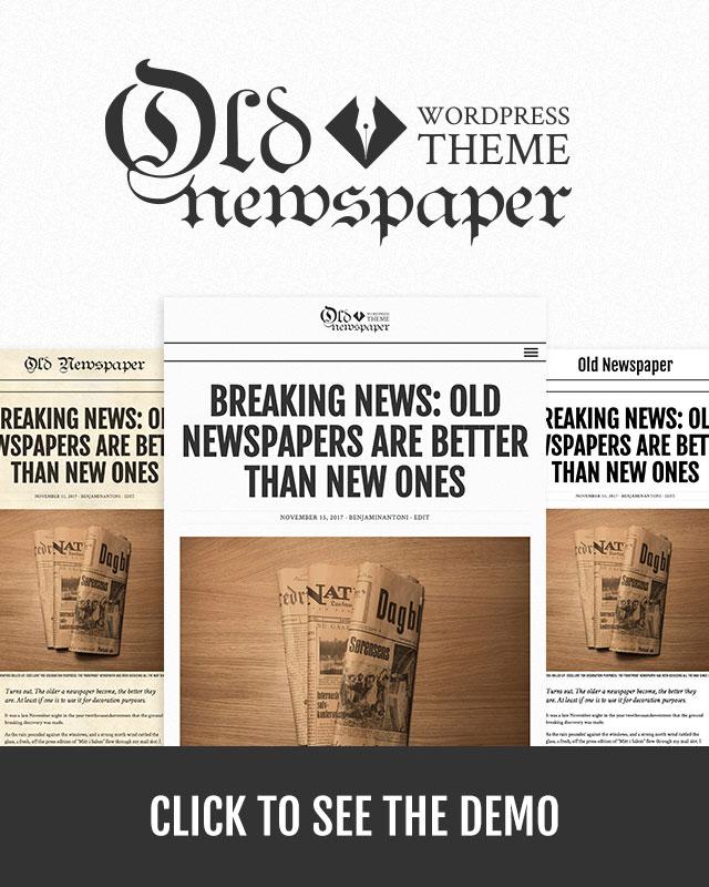 Old Newspaper WordPress Theme