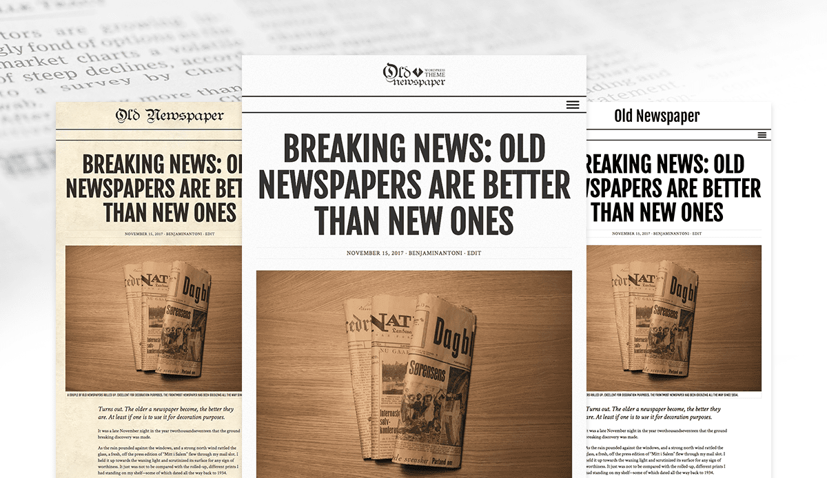 The Old Newspaper WordPress Theme