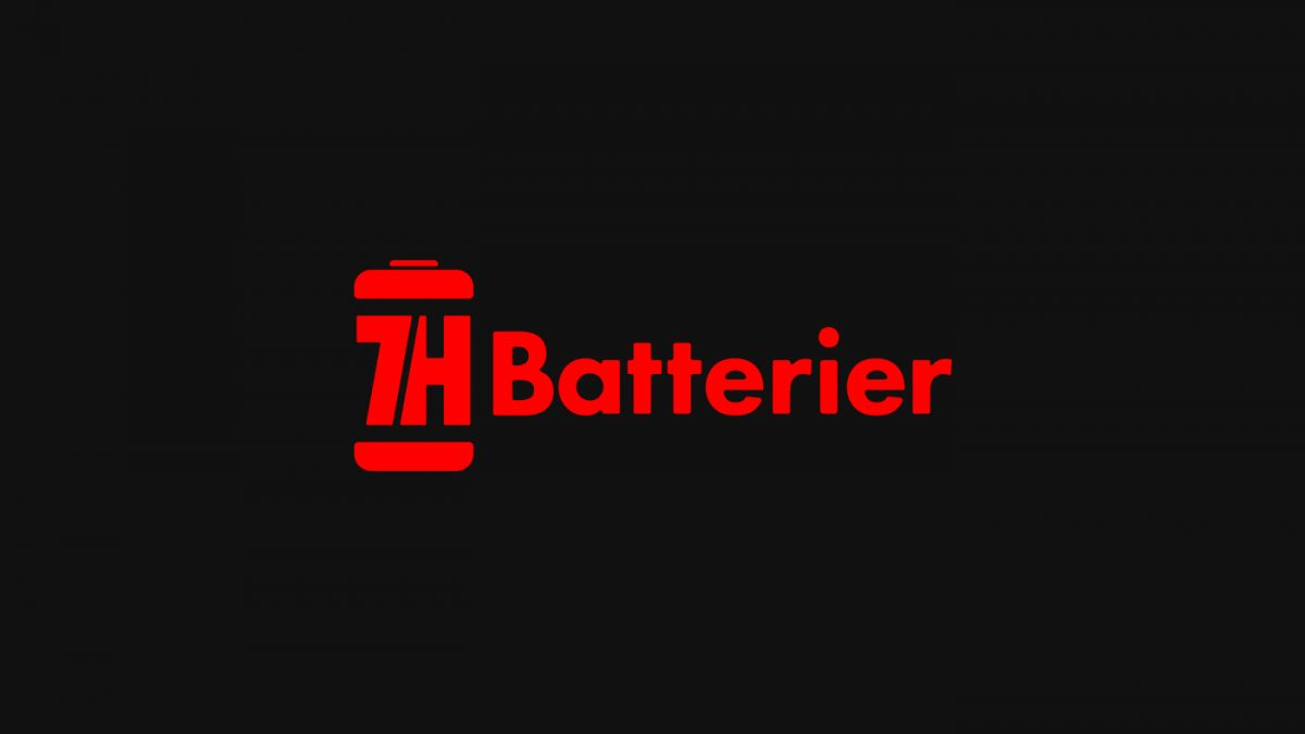 7H Batterier logo design
